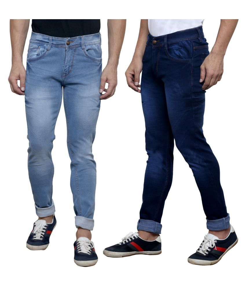 K-SAN Multicolored Slim Jeans