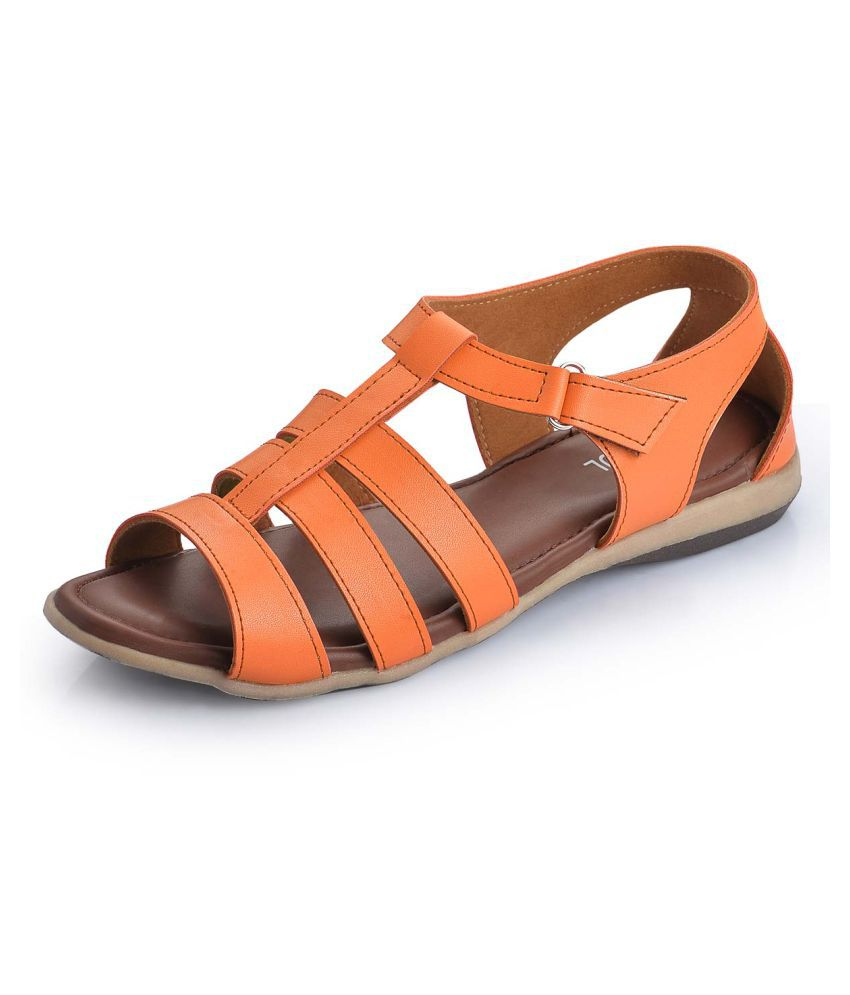 Footsoul Tan Flats