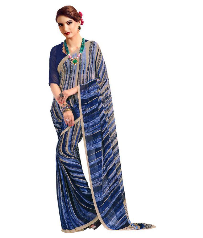 Kumaran Silks Blue Georgette Saree