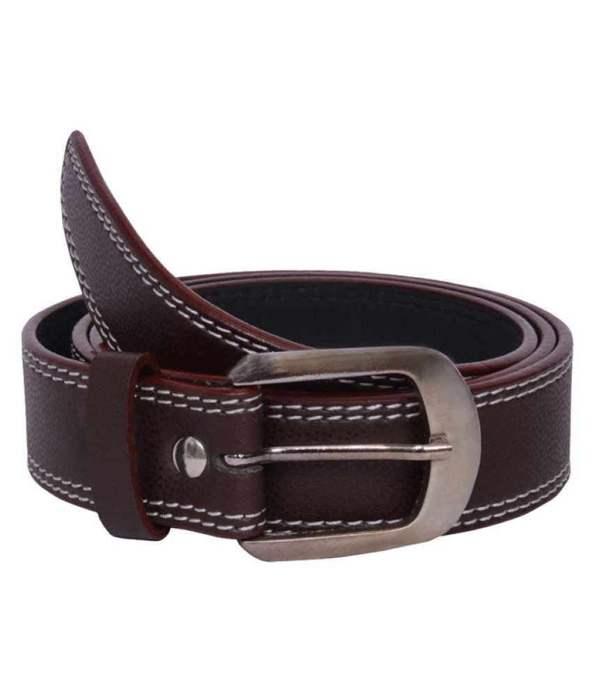 Visach Brown Faux Leather Casual Belts