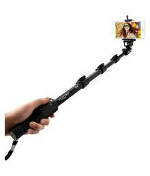 yunteng Black Bluetooth Selfie Stick - 125 cm