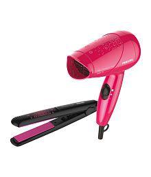 Philips Combo of HP8643/46 Hair Dryer & Hair Straightner- Pink