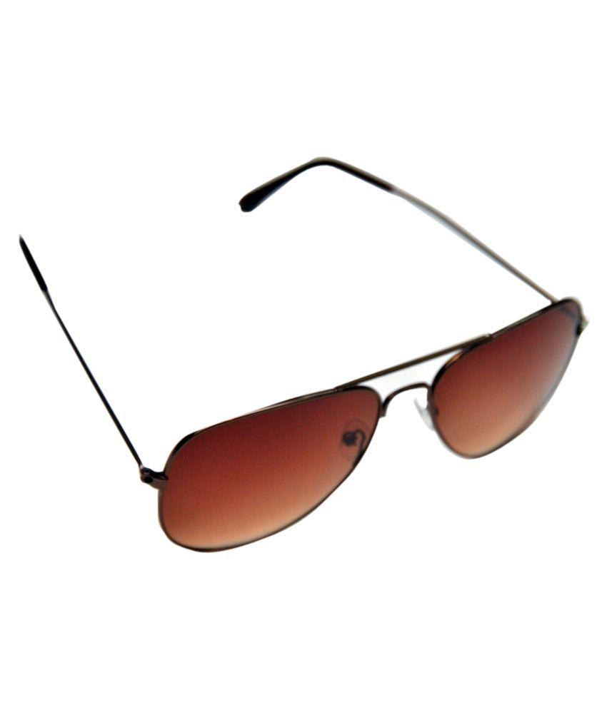 SR FASHION HUB Brown Aviator Sunglasses ( 3025 )