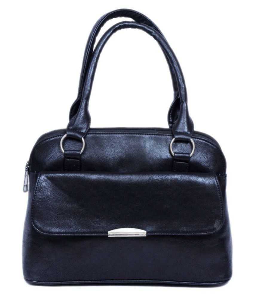 Cenzoni Black Faux Leather Shoulder Bag