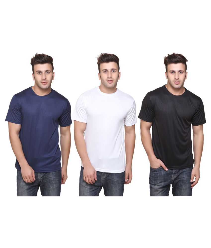 FUNKY GUYS Multi Round T-Shirt Pack of 3