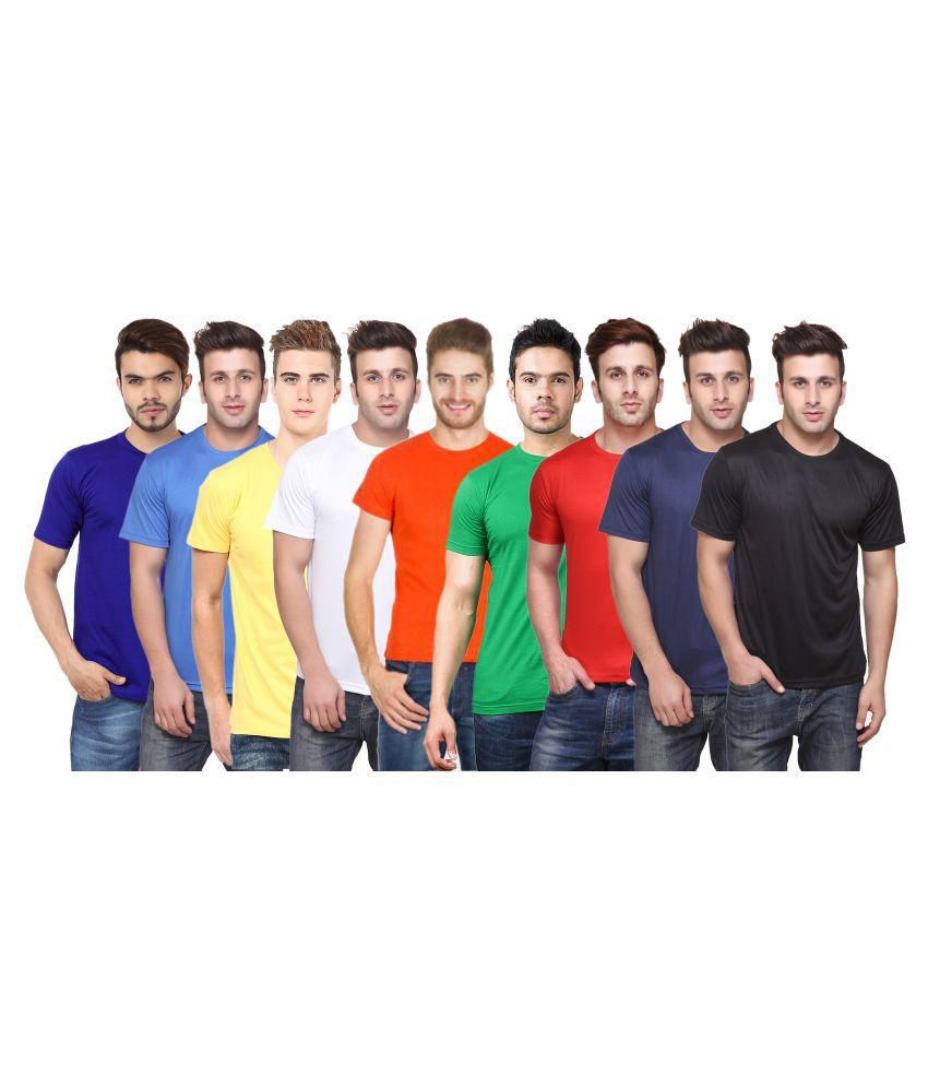 FUNKY GUYS Multi Round T-Shirt Pack of 9