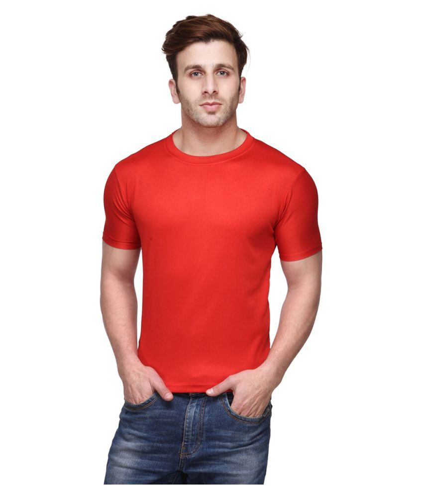 FUNKY GUYS Red Polyester T-Shirt Single Pack