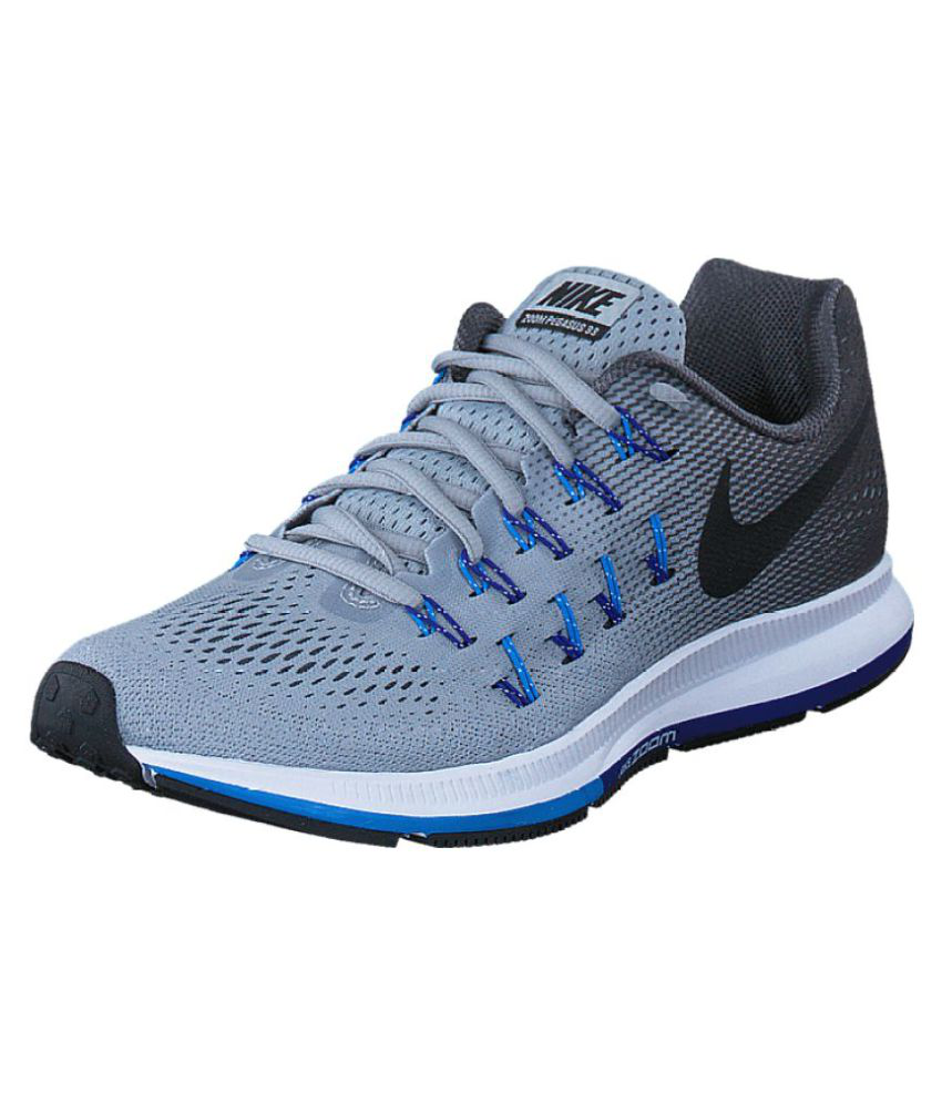 acc425d9616 Nike 1 Pegasus 33 Grey Blue Running Shoes - Buy Nike 1 Pegasus 33 Grey Blue  Running Shoes Online at Best Prices in India on Snapdeal