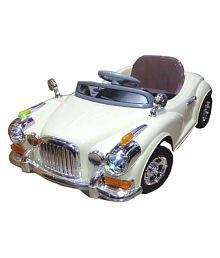 Dramatic Battery Operated Ride On Vintage Car With Remote Control & Mp3 Music
