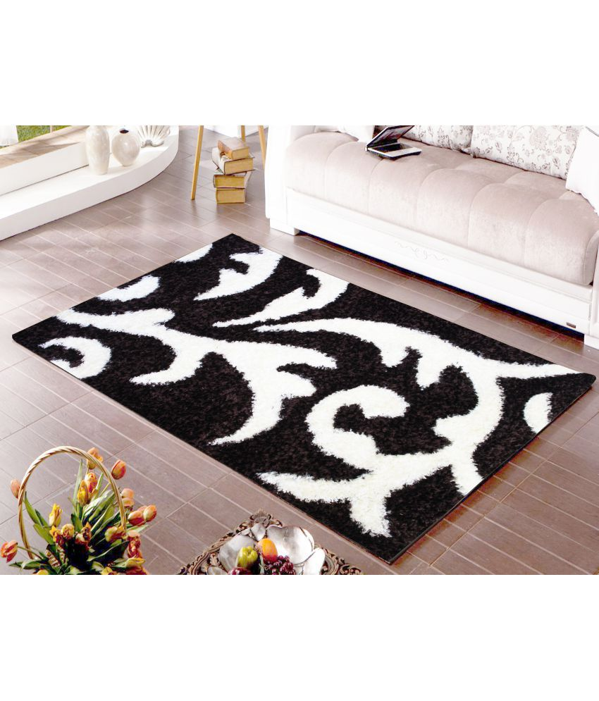 Story@Home Brown Polyester Carpet Abstract 3x5 Ft.