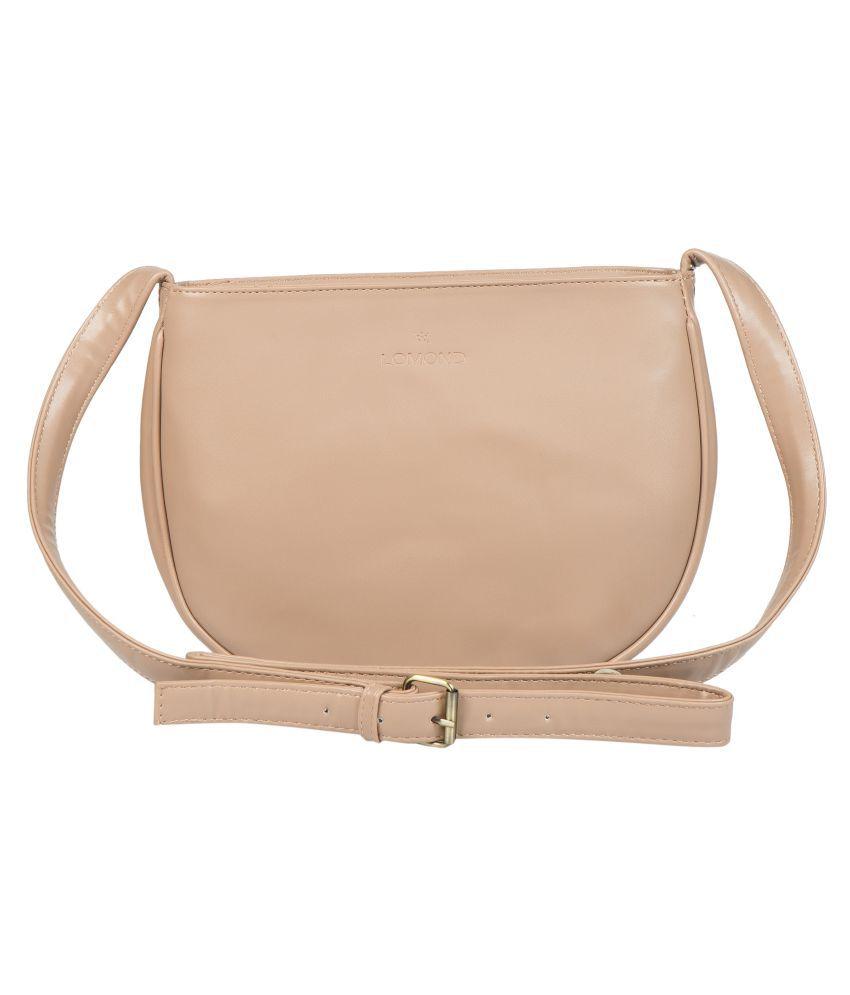 LOMOND Beige P.U. Sling Bag