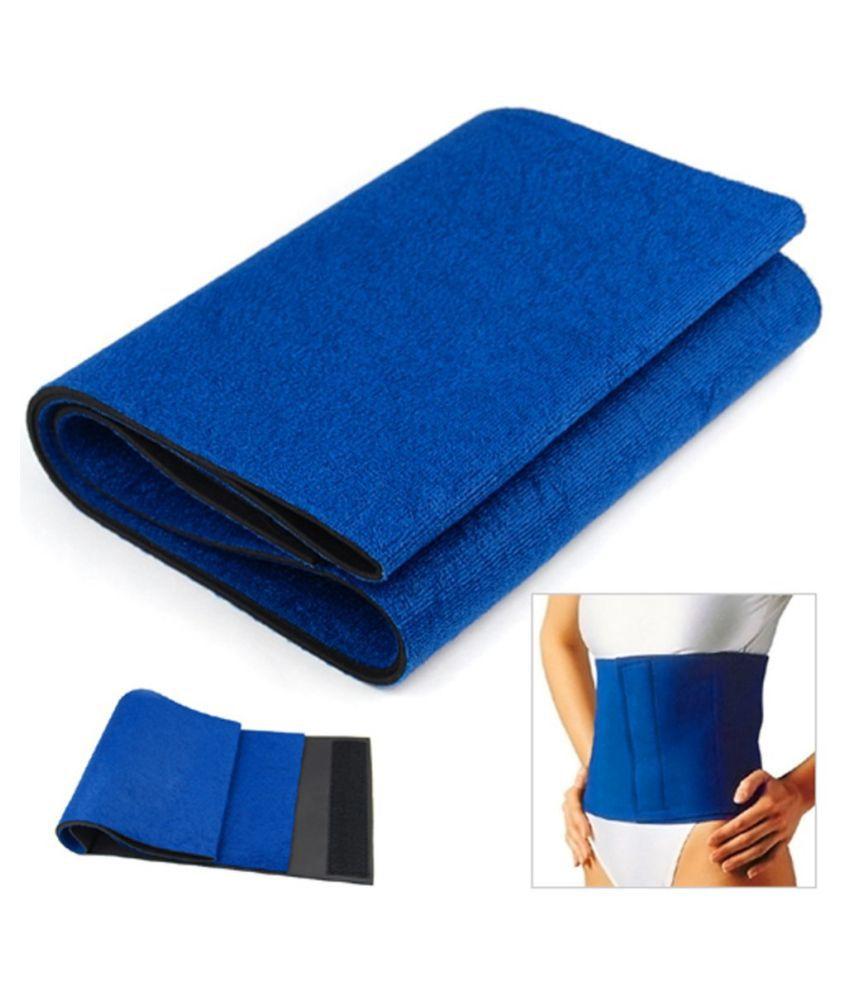 Sahani Traders Unisex hot shaper sweat tummy trimmer wonder abdomen slimming Fat cutter weight loss belt Adjustable blue color