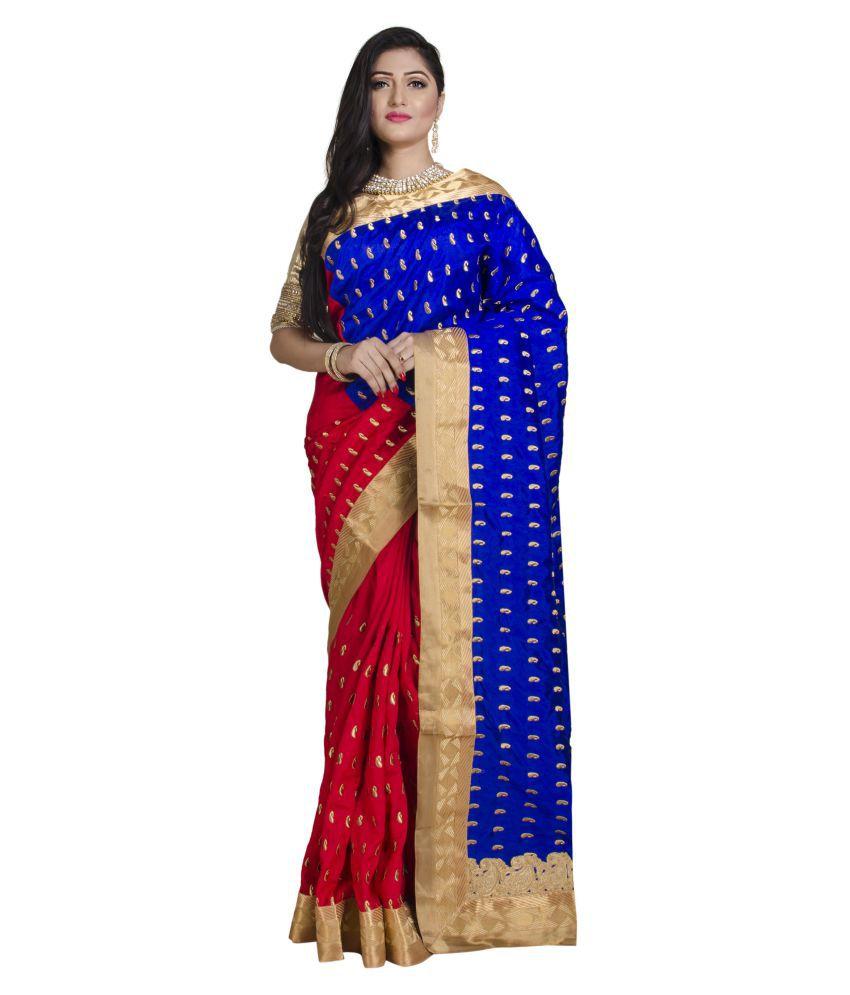 UPAMA Multicoloured Dupion Silk Saree