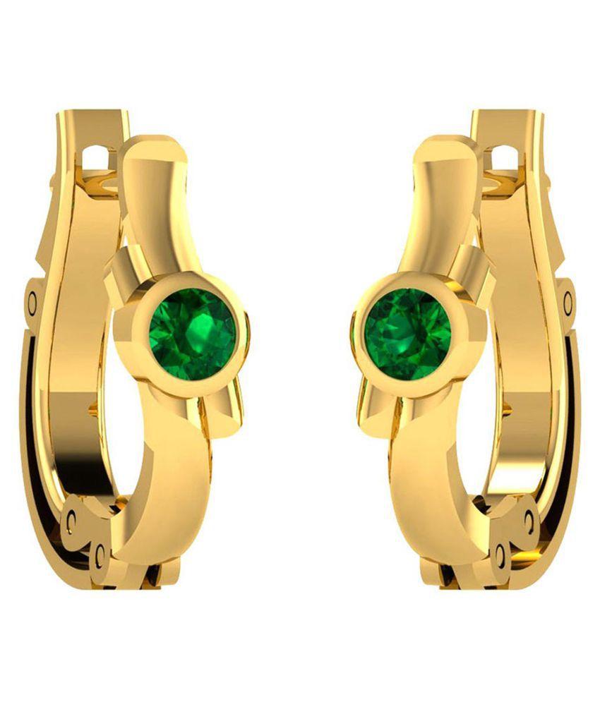Kataria Jewellers 92.5 BIS Hallmarked Silver Zircon Hoop