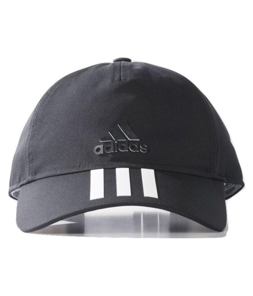 Adidas Black Plain Polyester Caps - Buy Online   Rs.  792c58c6cdbe