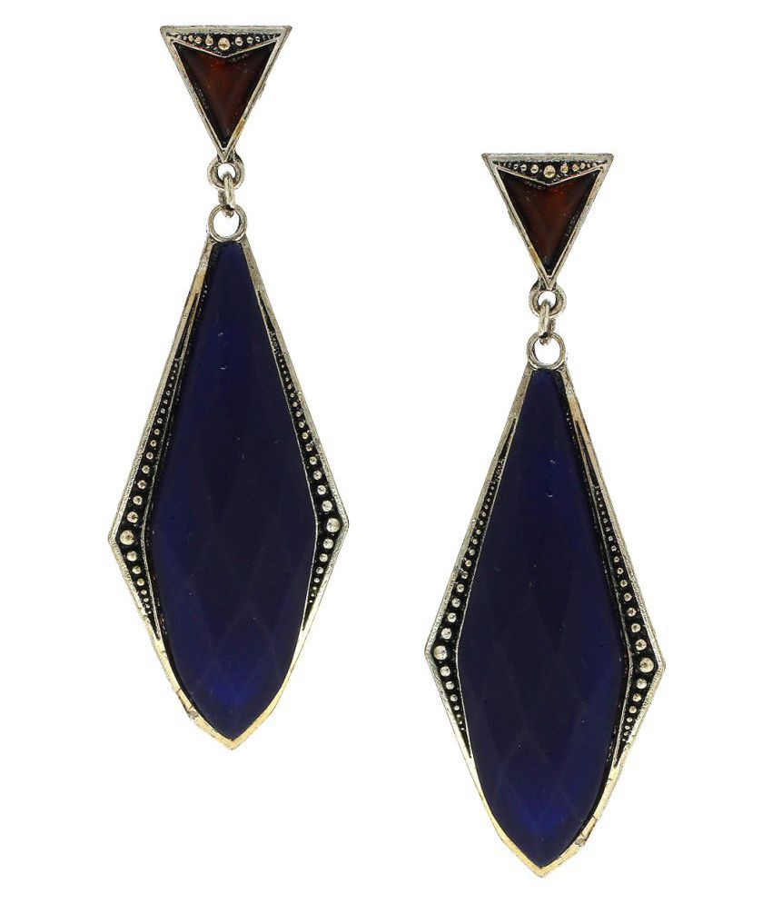 Anuradha Art Purple Colour Trendy Classy Party Wear Long Fancy Earrings For Women/Girls