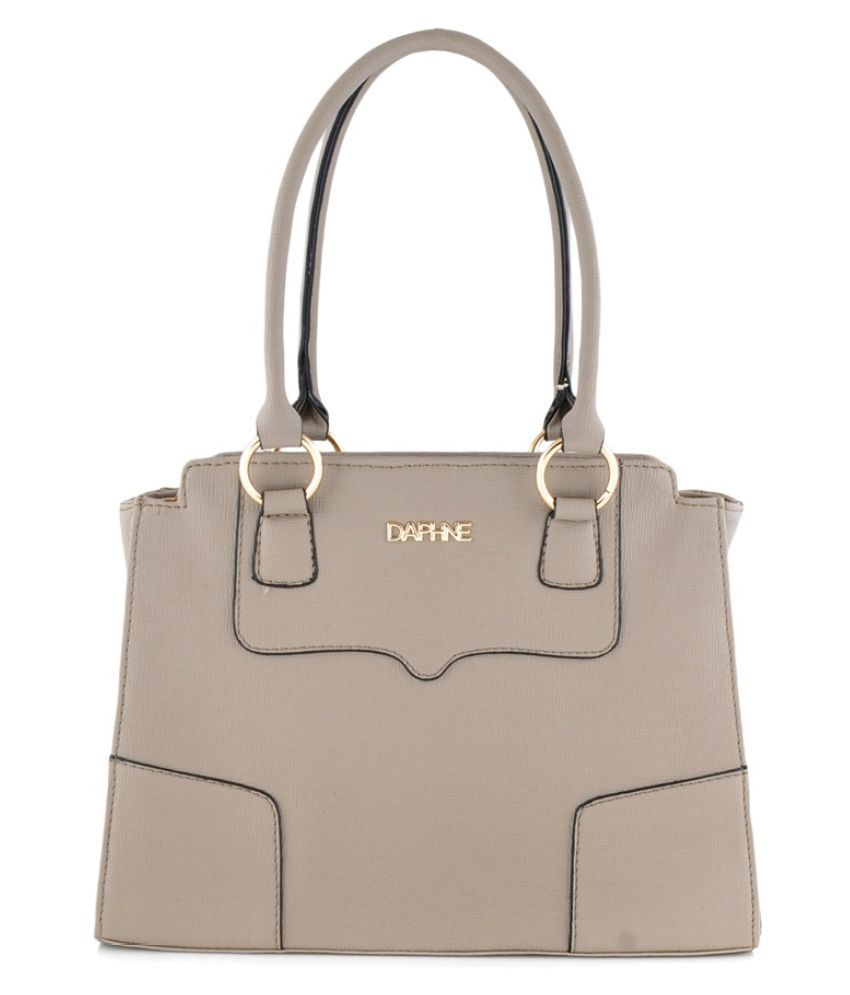 Daphne Gray Faux Leather Handheld