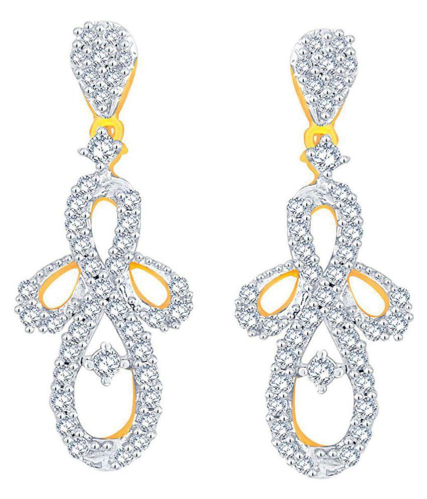 Glitterati By Asmi 18k BIS Hallmarked Yellow Gold Diamond Studs