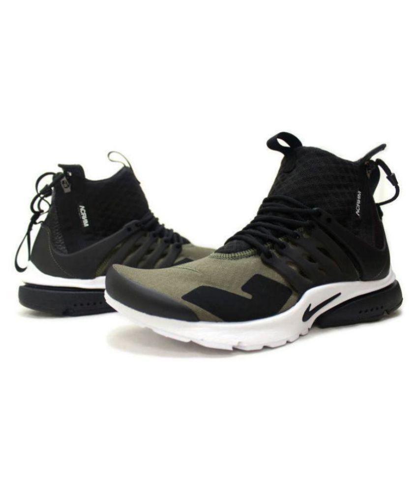 Nike Presto Acronym Olive Running Shoes ...