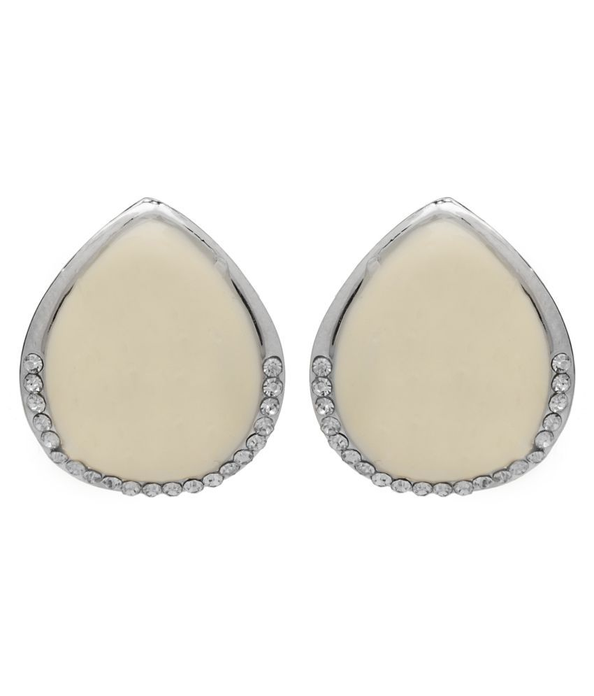2010KHARIDO Contemporary Silver Colored Alloy Hoop Stud Earring for Women