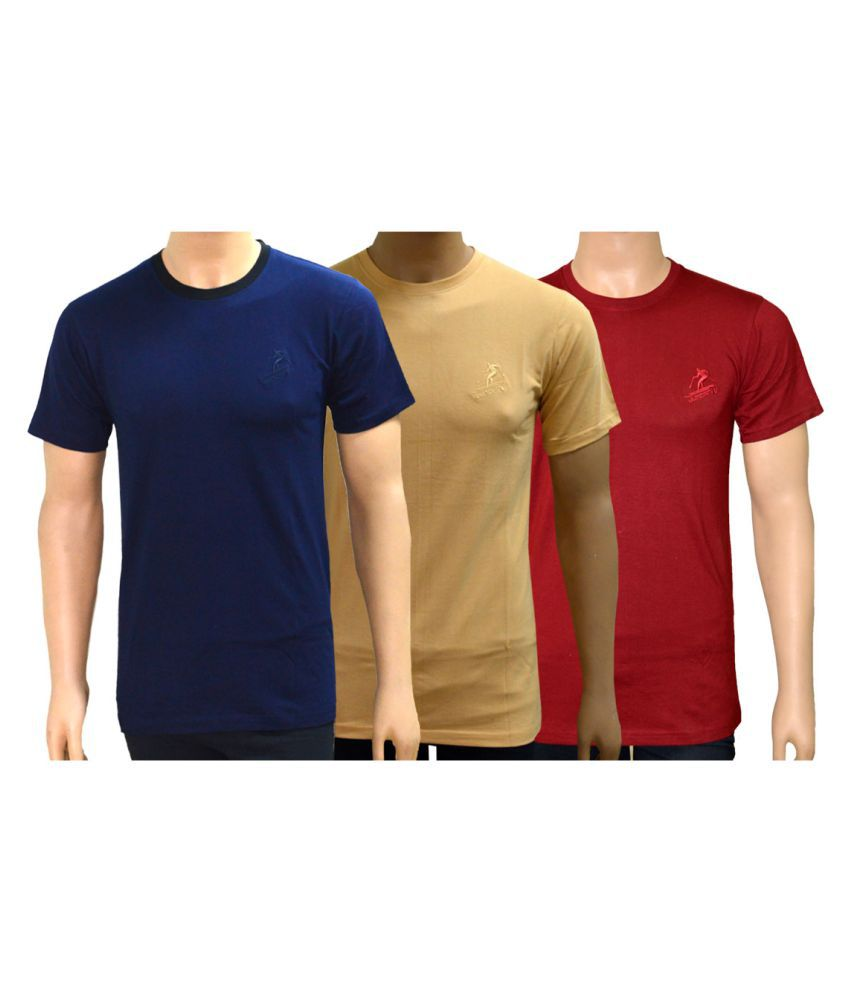 Lyril Multi Cotton T-Shirt Pack of 3