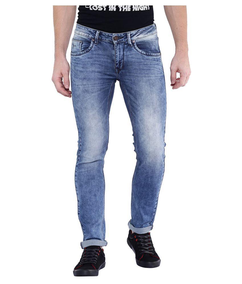 Flying Machine Blue Regular Fit Jeans