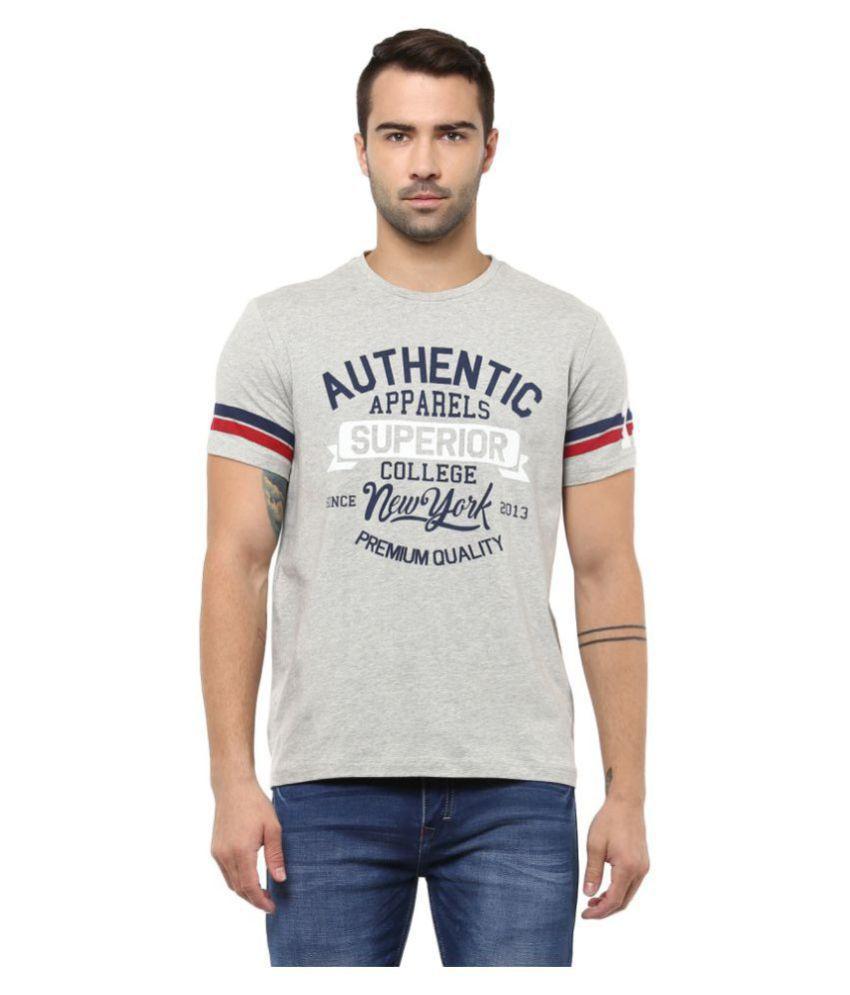 Yuvi Grey Round T-Shirt