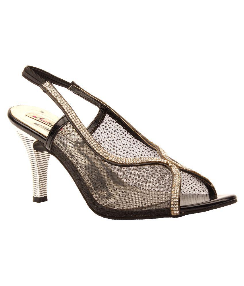 Foot Candy Black Cone Heels
