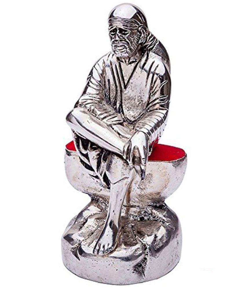INTERNATIONAL GIFT Sai Baba Aluminium Idol