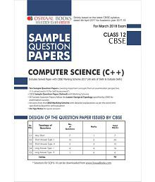 Oswaal CBSE Sample Question Papers For Class 12 Computer Sci. C++ (Mar.2018 Exam)