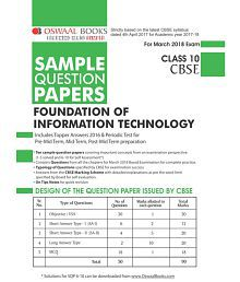 Oswaal CBSE Sample Question Papers Class 10 Found. Of Info. Tech.