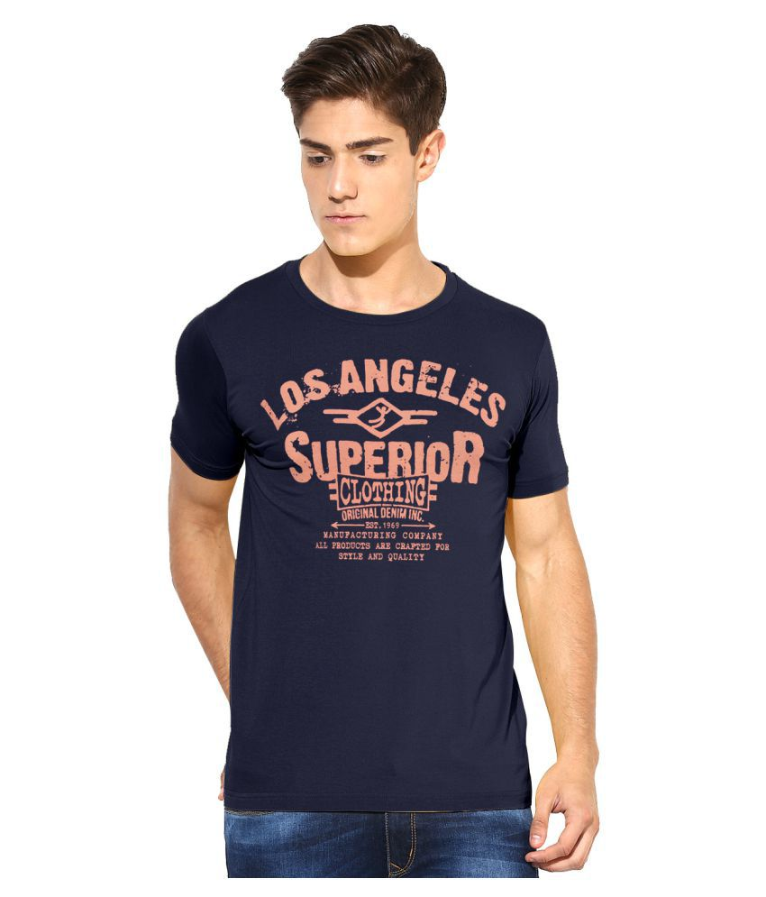 MOONWALKER Blue Round T-Shirt