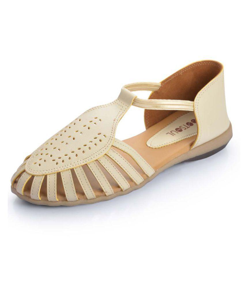 FootSoul Cream Flats