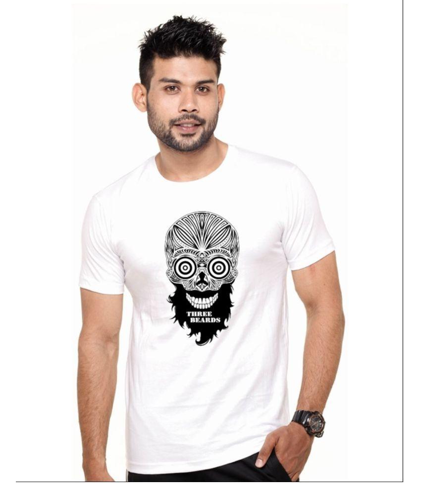 Ejebo White Round T-Shirt