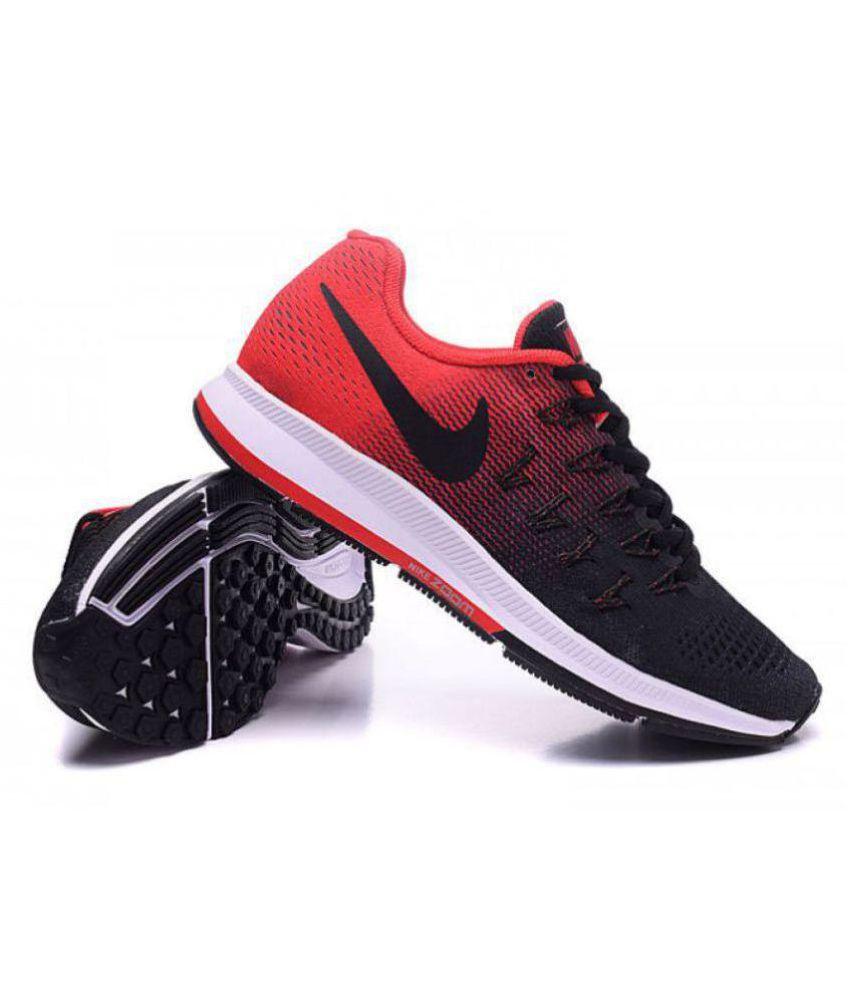 3838fe370e0 Nike Air Pegasus 33 Black Red Running Shoes - Buy Nike Air Pegasus ...