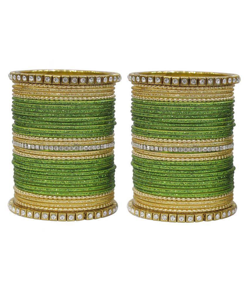 MUCH MORE Traditional Ethnic Design Made Charming Bangles for Women Wedding Jewelry