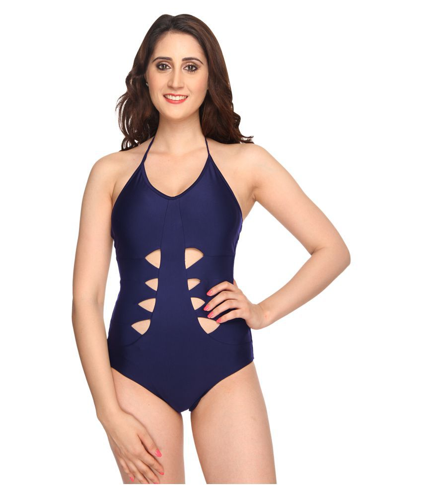 6adb63386d Buy Nidhi Munim Spandex One Piece Swimsuit without Skirt Online at Best  Prices in India - Snapdeal
