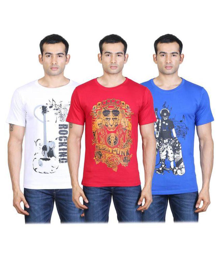 Tribal Bull Multi Round T-Shirt Pack of 3