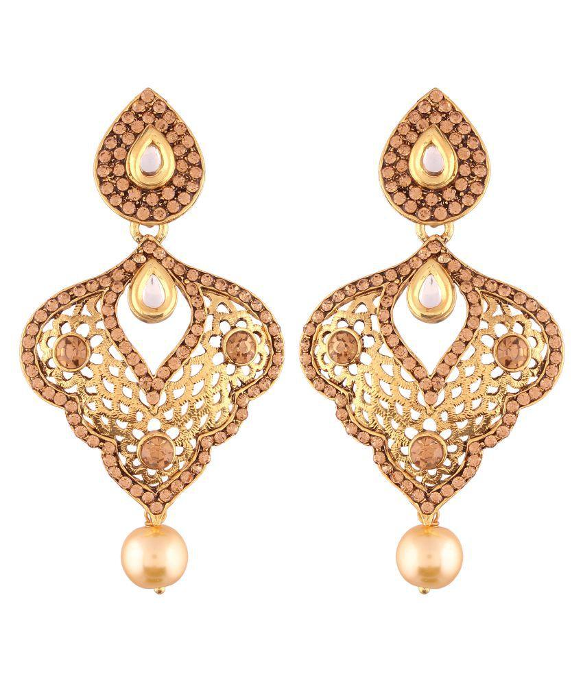 I Jewels High Gold Plated Designer Earrings for Women (E2411FL)