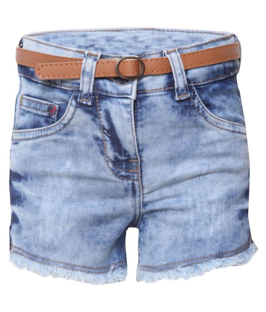Tales & Stories Girls Light Blue Denim Shorts