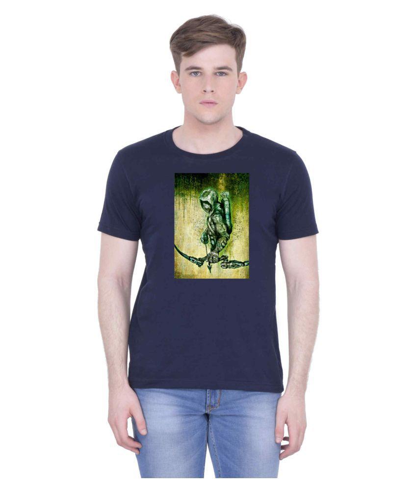 Voguestyle Blue Round T-Shirt