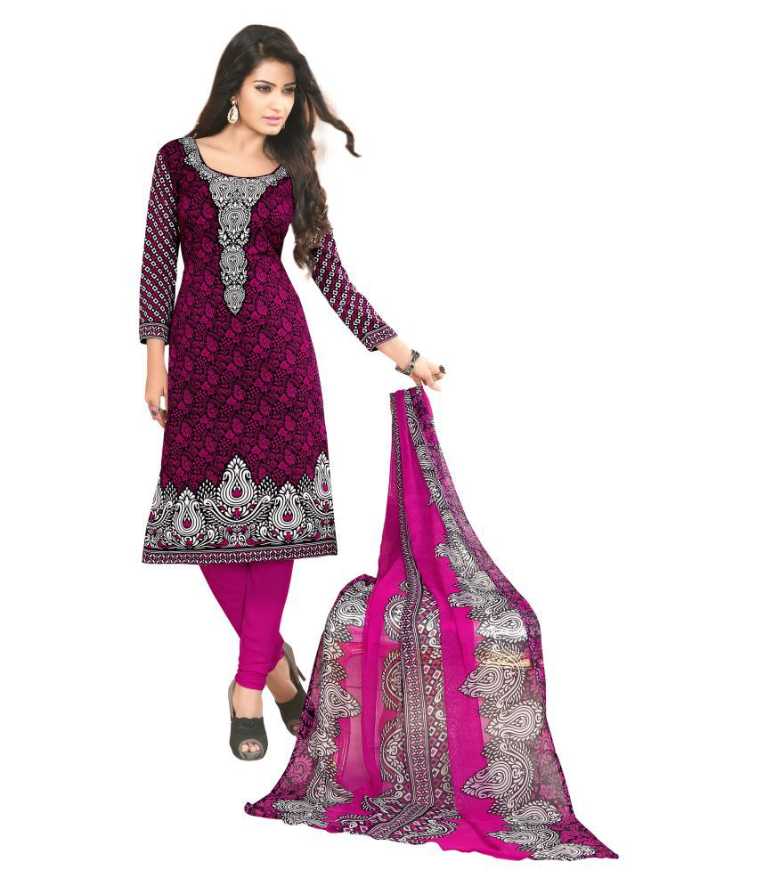 a3fdb5d5c64 Ishin Grey and Purple Synthetic Dress Material - Buy Ishin Grey and Purple  Synthetic Dress Material Online at Best Prices in India on Snapdeal