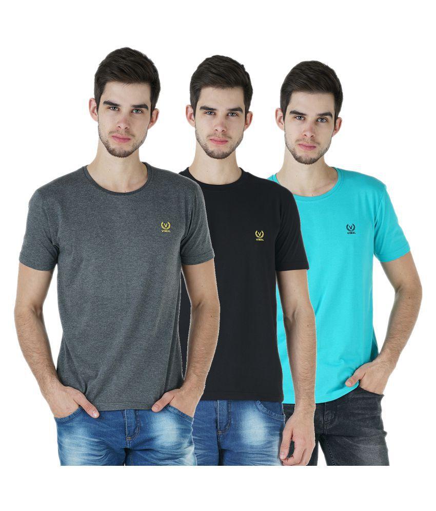Vimal Multi Round T-Shirt Pack of 3