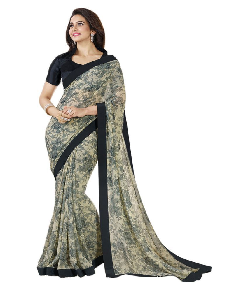 Raul Zone Black Georgette Saree