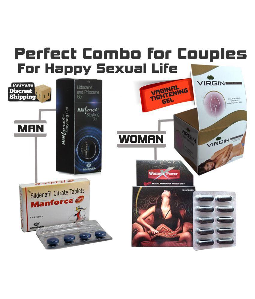 ayurvedbaba manforce gel man 100 tab woman power cap virgin cream