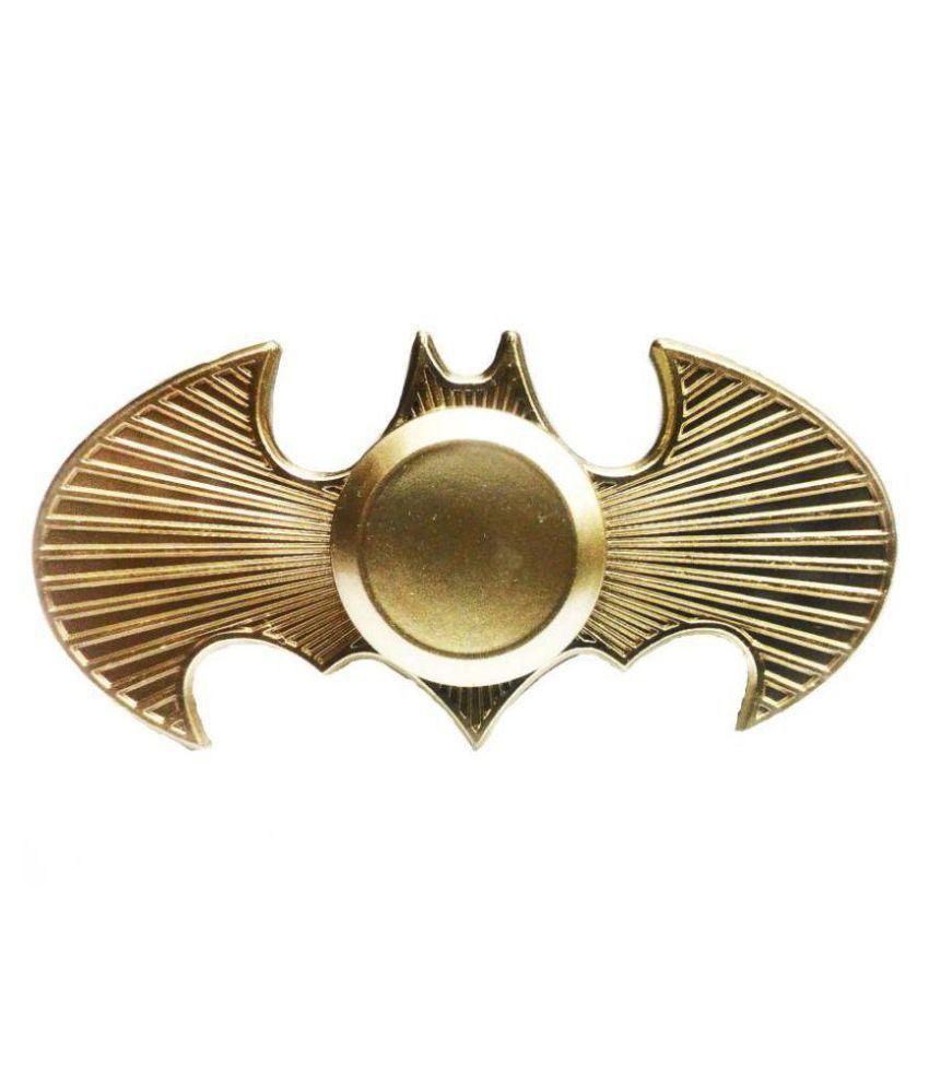 Emob Batman Bat Wings Brass Metal Fidget Hand Spinner With Bearing Gold