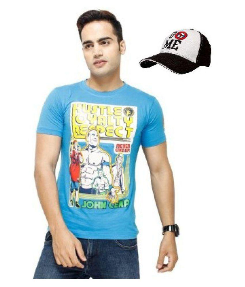 Attitude Blue Round T-Shirt