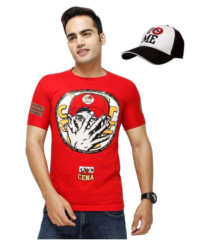 Attitude Red Round T-Shirt