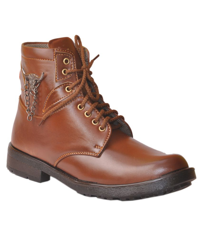 GAMBOL Tan Party Boot