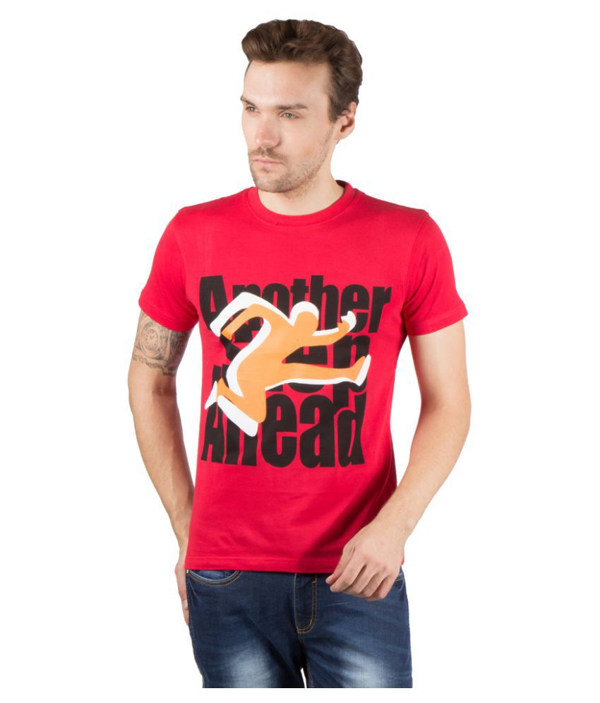 High On Game Red Cotton T-Shirt